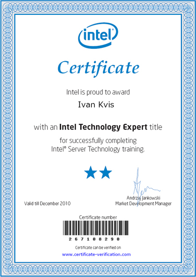 Intel Technology Expert