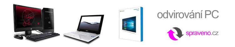 Odvirování PC a notebooků
