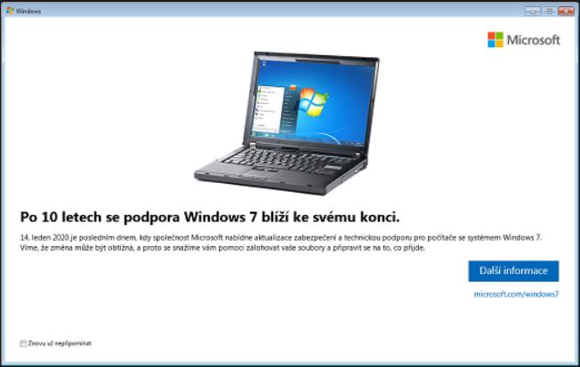 Konec podpory Windows 7 blíží